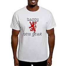 Happy new year Glengarry Scots lion T-Shirt