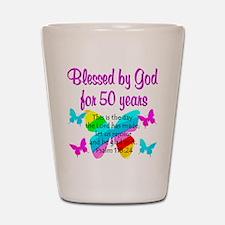 DELIGHTFUL 50TH Shot Glass