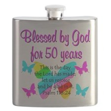 DELIGHTFUL 50TH Flask