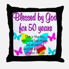 DELIGHTFUL 50TH Throw Pillow