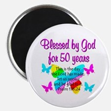 DELIGHTFUL 50TH Magnet