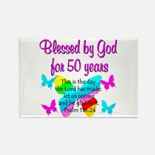 DELIGHTFUL 50TH Rectangle Magnet (100 pack)