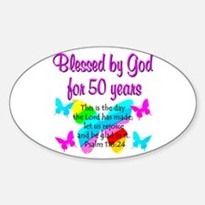 DELIGHTFUL 50TH Decal