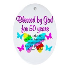 DELIGHTFUL 50TH Ornament (Oval)