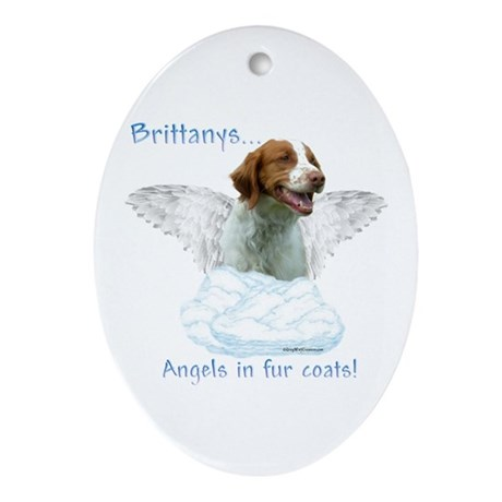 Brittany Angel Oval Ornament