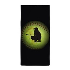 iCatch Fastpitch Softball Beach Towel