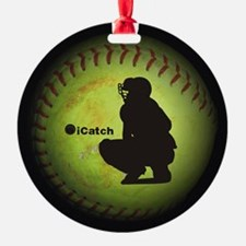 iCatch Fastpitch Softball Ornament