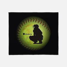 iCatch Fastpitch Softball Throw Blanket