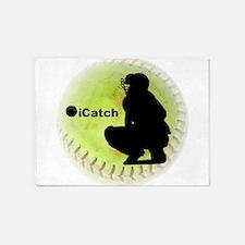 iCatch Fastpitch Softball 5'x7'Area Rug