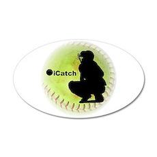 iCatch Fastpitch Softball 22x14 Oval Wall Peel