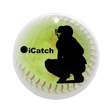 iCatch Fastpitch Softball Ornament (Round)