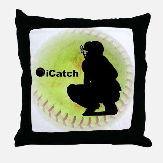 iCatch Fastpitch Softball Throw Pillow