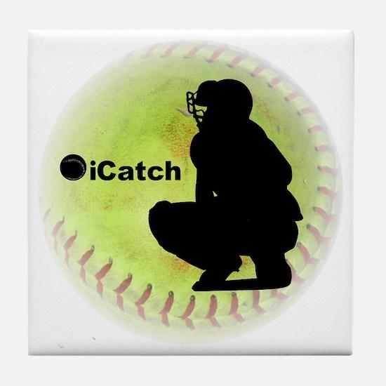 iCatch Fastpitch Softball Tile Coaster
