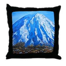 Mount Ngauruhoe  Throw Pillow