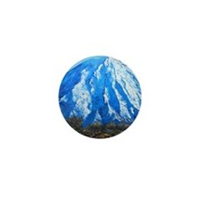Mount Ngauruhoe  Mini Button