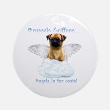 Brussels Angel Ornament (Round)