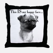 Brussels Happy Throw Pillow