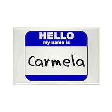 hello my name is carmela Rectangle Magnet