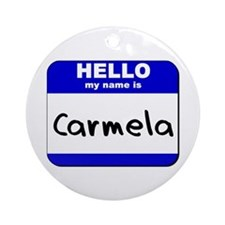 hello my name is carmela  Ornament (Round)