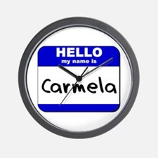 hello my name is carmela  Wall Clock
