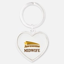 Awesome Midwife Heart Keychain