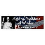 Athena Bless America Bumper Sticker