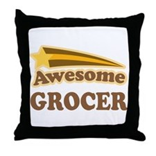 Awesome Grocer Throw Pillow