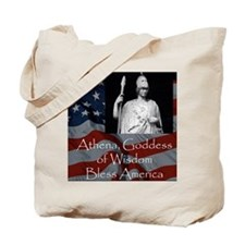 Athena Bless America Tote Bag