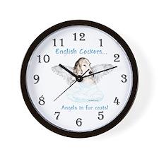 Eng Cocker Angel Wall Clock