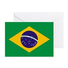 Brazil Flag Greeting Cards (Pk of 10)