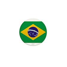 Brazil Flag Mini Button (10 pack)