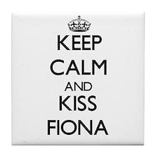 Keep Calm and kiss Fiona Tile Coaster