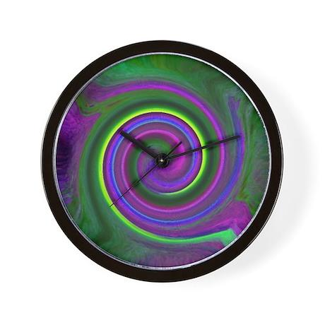 Green Purple FANTASY Wall Clock