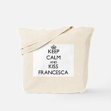 Keep Calm and kiss Francesca Tote Bag
