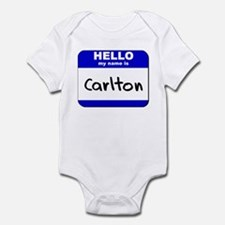 hello my name is carlton  Onesie