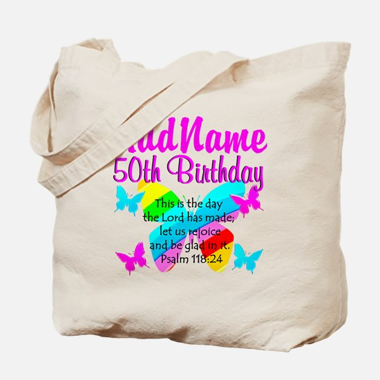 BLESSED 50TH Tote Bag