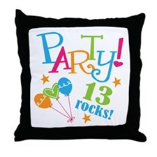 13th Birthday Party Throw Pillow