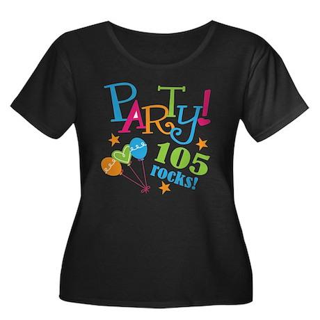 105th Birthday Party Women's Plus Size Scoop Neck