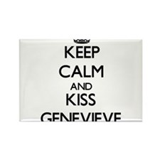 Keep Calm and kiss Genevieve Magnets