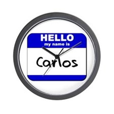 hello my name is carlos  Wall Clock