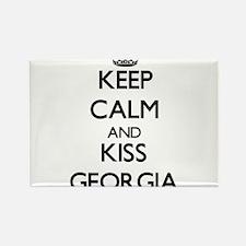 Keep Calm and kiss Georgia Magnets