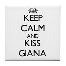 Keep Calm and kiss Giana Tile Coaster