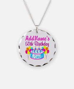 50TH PARTY Necklace Circle Charm
