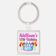 50TH PARTY Square Keychain