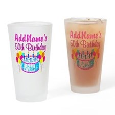 50TH PARTY Drinking Glass