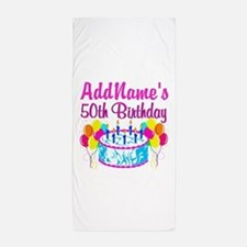 50TH PARTY Beach Towel