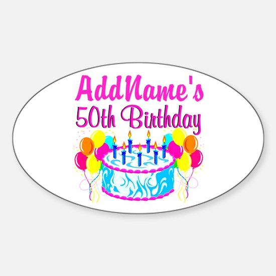 50TH PARTY Sticker (Oval)