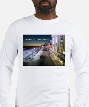 Atlantic City Boardwalk Long Sleeve T-Shirt