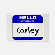 hello my name is carley Rectangle Magnet