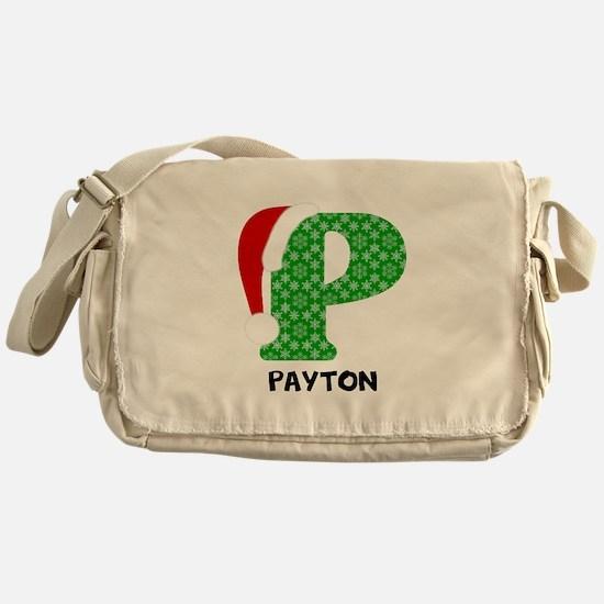 Christmas Letter P Monogram Messenger Bag